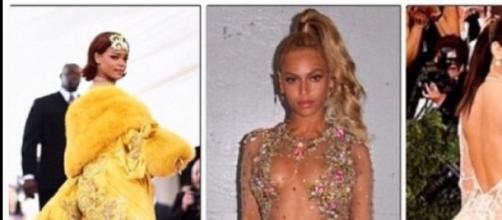Rihanna, Beyonce y Kim Kardashian en la Gala Met
