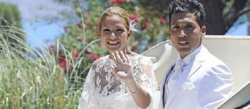 Tamara Gorro y Ezequiel Garay el día de su boda.