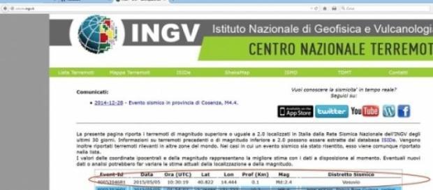 La leggera scossa di terremoto registrata a Napoli