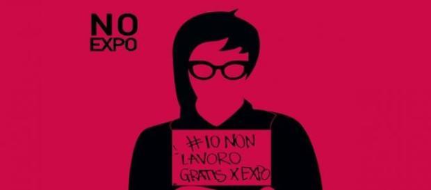 Manifesto contro l'Expo di Milano.