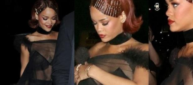 Rihanna no after-party após o MET
