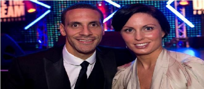 Rio Ferdinand e esposa juntos num evento