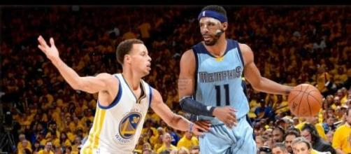 Mike Conley conseguiu parar o MVP Stephen Curry