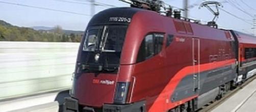 Modelo de tren siniestrado en Graz