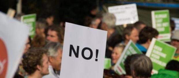 Proteste facute de oameni