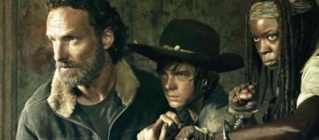 Rick, Carl y Michonne. Foto promocional
