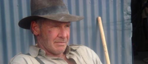 Harrison Ford, durante uno de los rodajes