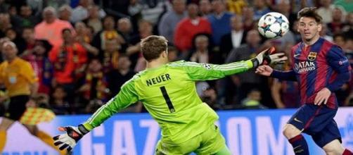 Messi a battu Neuer a 2 reprises