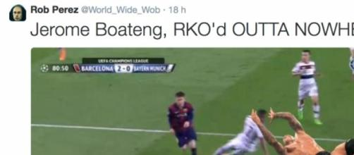 Sur Twitter, Boateng s'écroule face à un catcheur.