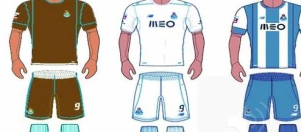 Azul e branco será o equipamento principal