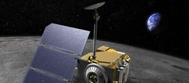 Es una nave que está explorando los polos lunares