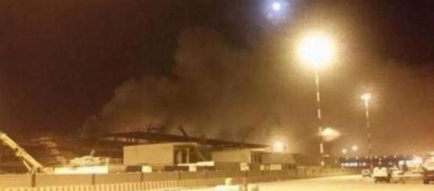 Un'immagine scattata dopo l'incendio.