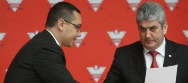Victor Ponta și Gabriel Oprea