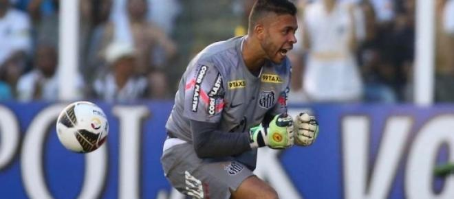 Vladimir é o único titular do Santos na partida.