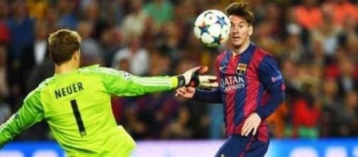Barcelona x Bayern com dois gols do Messi