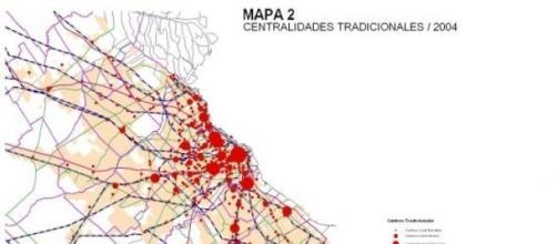 Centralidades que absorberá la RER