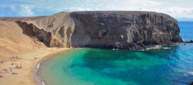 Playa Papagayo en imagen de archivo.