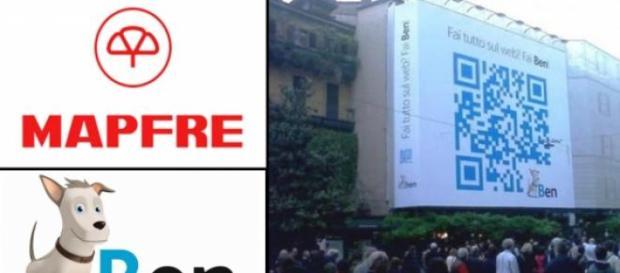 Un código QR tamaño XXL en Milán