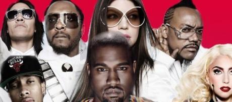 Black Eyed Peas, Kenye West, Lady Gaga e Tyga