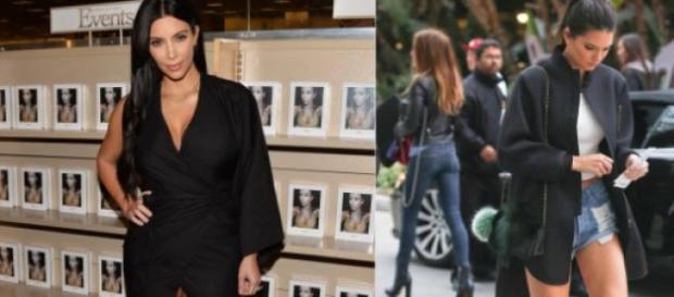 Kim Kardashian e Kendall Jenner deslumbrantes