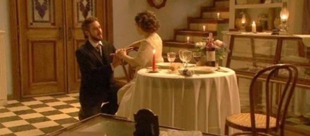 La proposta di nozze di Candela a Tristan