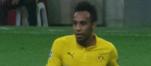 Aubameyang con el Borussia Dortmund