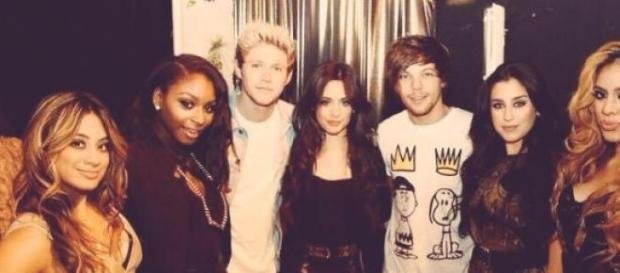 Louis e Niall dos One Direction e as Fifth Harmony