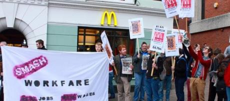 protestors against workfare