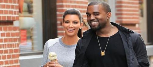 Kim Kardashian et son époux Kanye West.