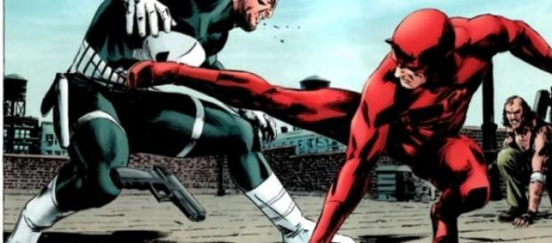 Daredevil contra Punisher en el comic