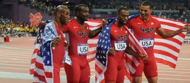 Gatlin and Gay (central two) to race Lausanne 100m
