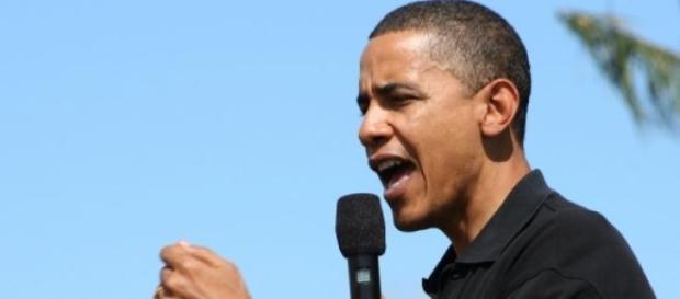 US-Präsident Barack Obama, während einer Rede