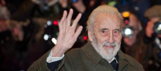 El actor Christopher Lee.