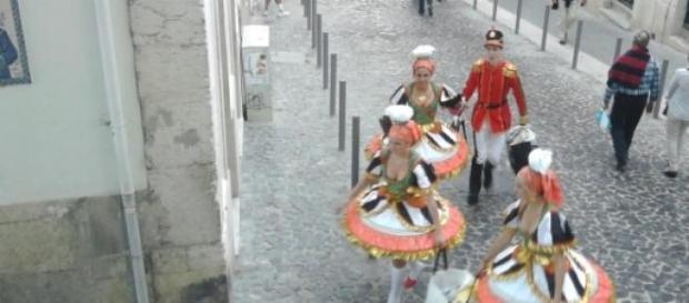 Figurinos do Castelo na Marcha de 2013