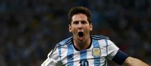 Lionel Messi, stella dell'Argentina.
