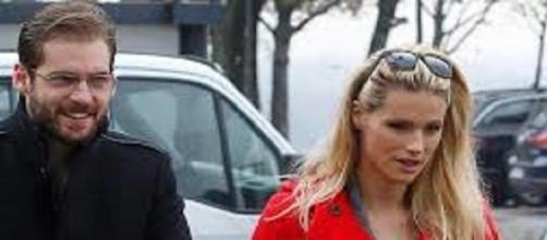 Michelle Huntziker e il marito Tommaso Trussardi.