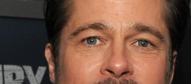 """Brad Pitt bei der Premiere von """"Herz aus Stahl""""."""