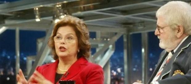 Dilma na primeira entrevista a Jô Soares