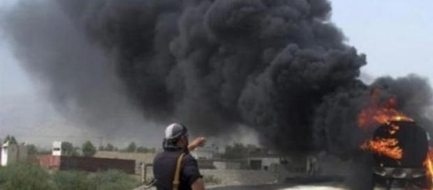 El dron de EE.UU bombardeó y mató a 13 insurgentes