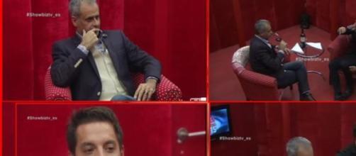 Francisco con Jorge Rial en el cuarto rojo