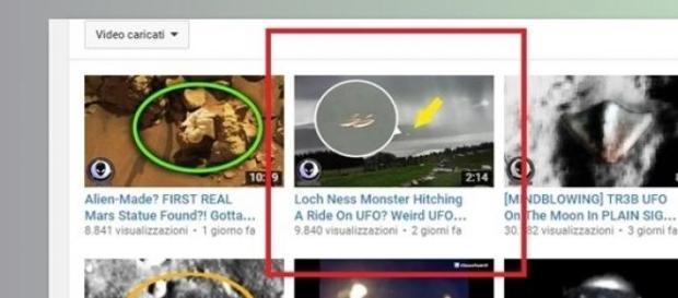 Avvistamento UFO di Loch Ness sui video YouTube