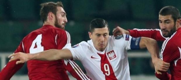 Lewandowski ustrzelił hat-tricka przeciwko Gruzji.