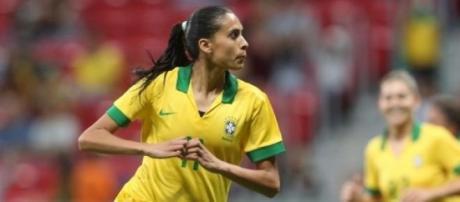Andressa Alves fez o gol da vitória brasileira