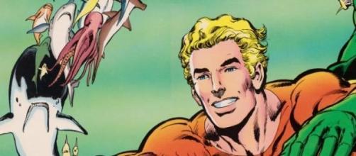 Dibujo del personaje Aquaman