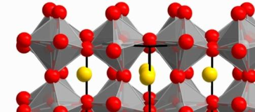 Estructura cristalina de material ferroeléctrico