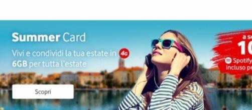 Vodafone Summer Card 2015 con 6GB a 10€