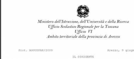 Inserimento in Gae diploma magistrale, Usp Arezzo