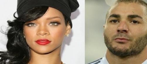 Rihanna et Karim Benzema.