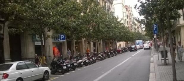 Carrer Gran de Gràcia de Barcelona (Foto del A.)