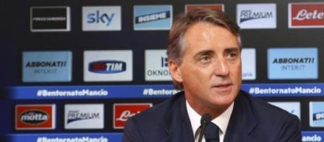 L'allenatore dell'Inter, Roberto Mancini